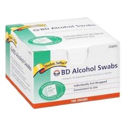 SWAB ALC FOIL WRAP 100EA/BX 12BX/CS    BD